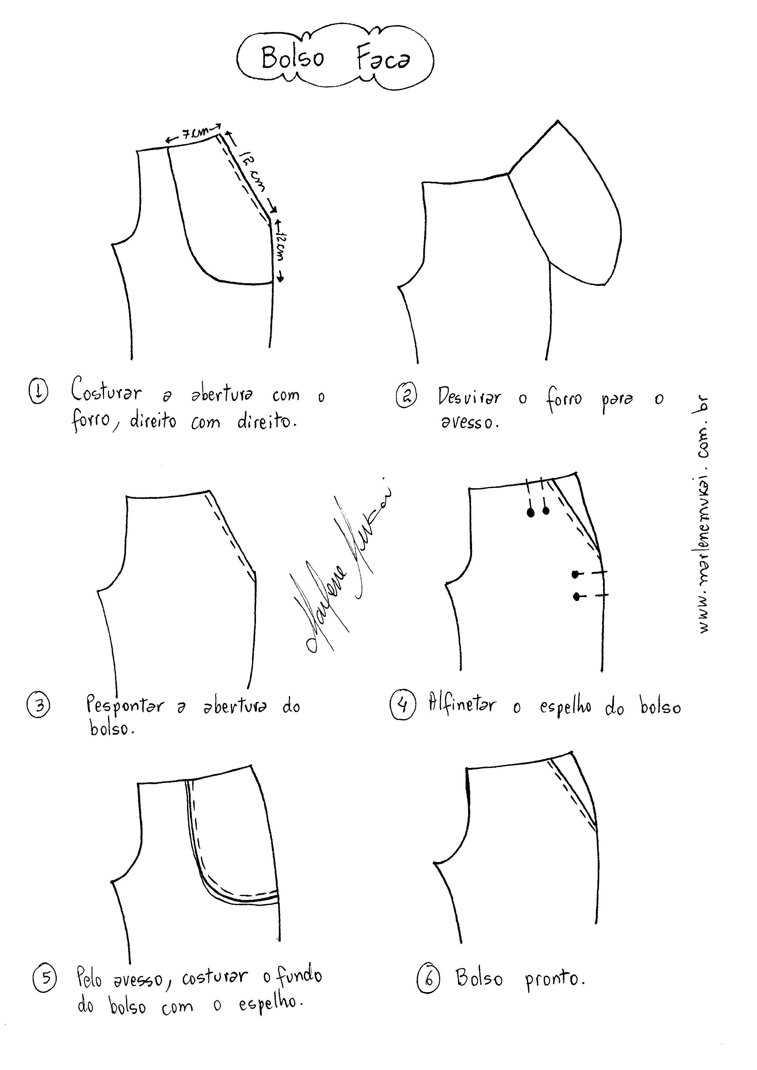 Como colocar bolso em Calça | Importante para Medidas y Moldes ...