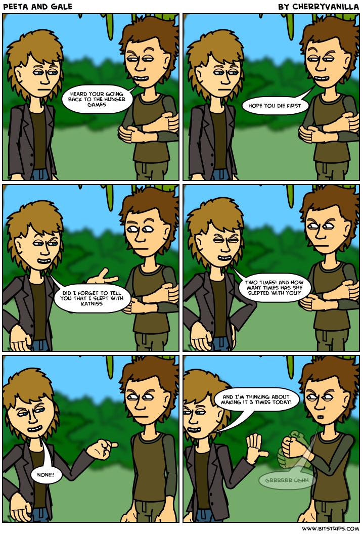 Peeta is jerk *shakes head* | Hunger Games Cartoons ...