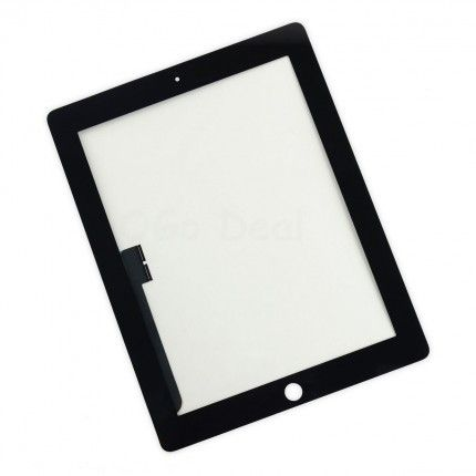 For iPad 3/4 Front Glass / Digitizer Touch Panel Replacement, Premium - Black #touchpanel