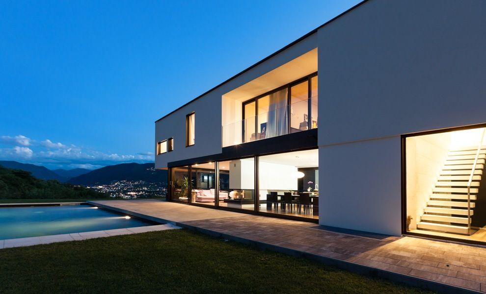 Moderne woningen huizen pinterest modern house and for Moderne laagbouw woningen