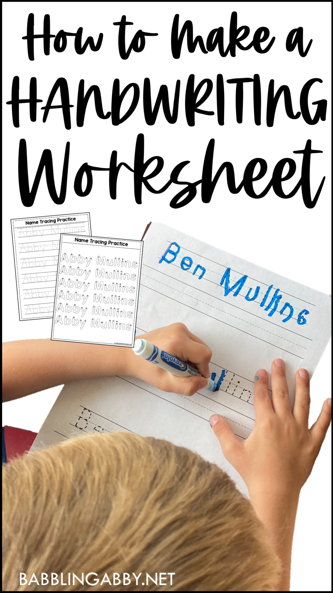 How To Make A Handwriting Worksheet