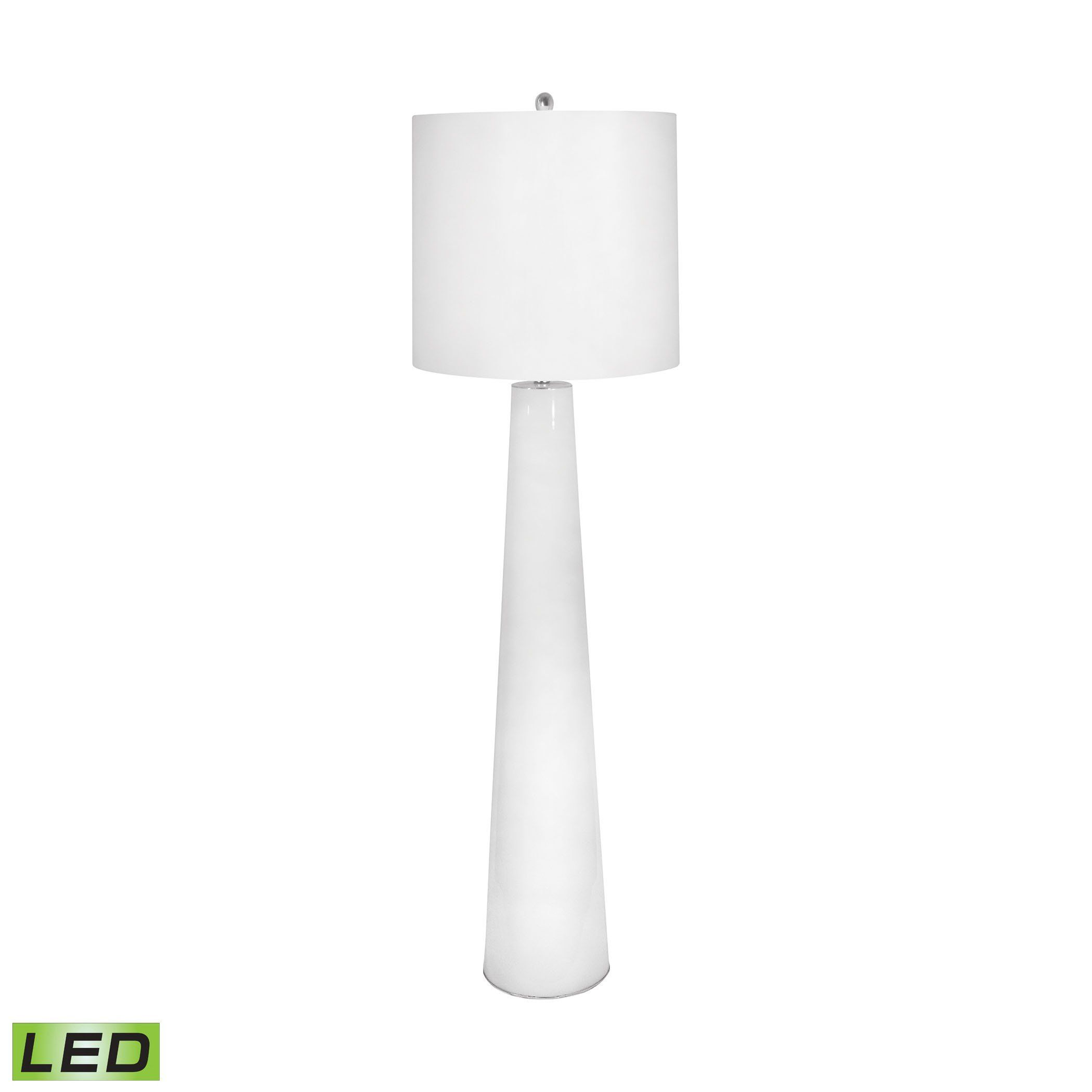 White Obelisk Led Floor Lamp With Night Light Products Terrazzo