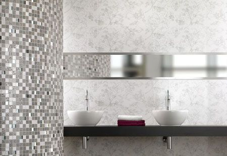 Moonlight Sparkling Bathroom Tiles For Shiny And Elegant Bathroom Design