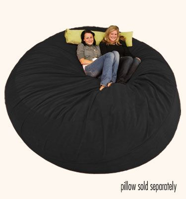 Large Bean Bag Chair 8 Ft Sack Micro Suede Black Mix The Room With Some Sacks And Chairs