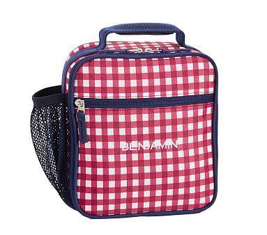 Classic Lunch Bag Mackenzie Red Navy Gingham Navy Gingham