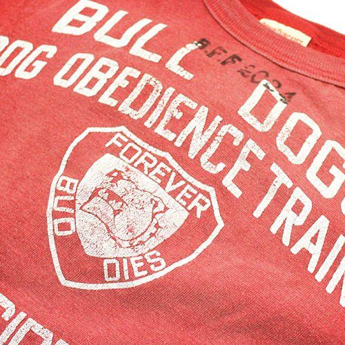 DENIM DUNGAREE(デニム&ダンガリー):ビンテージテンジク BULL DOGS Tシャツ 5R赤 の通販【ブランド子供服のミリバール】