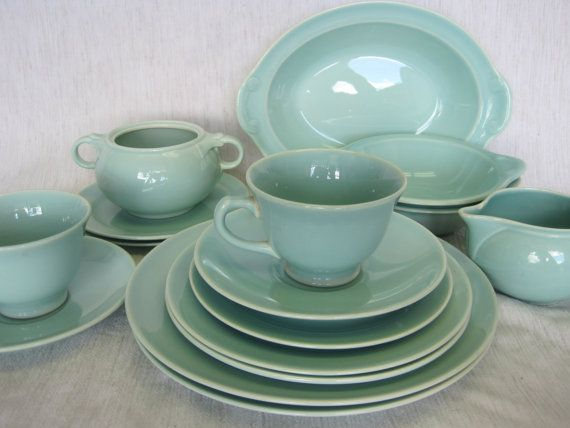 14 Piece Green LuRay Pastel Dishes & 14 Piece Green LuRay Pastel Dishes | Dinnerware | Pinterest ...
