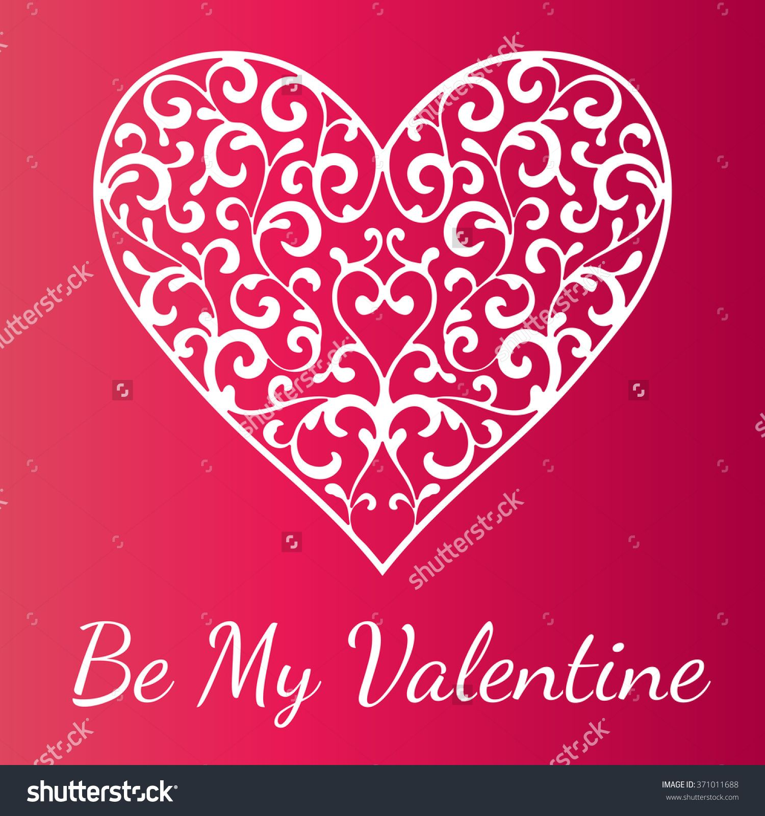 Ornamental Heart On Bright Red Background Valentine S Day