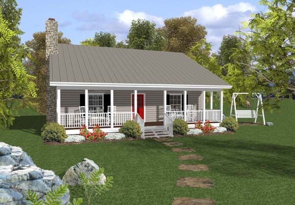 Ranch Style House Plan 92376 With 2 Bed 2 Bath Cottage Style House Plans Ranch Style House Plans Ranch House Plans