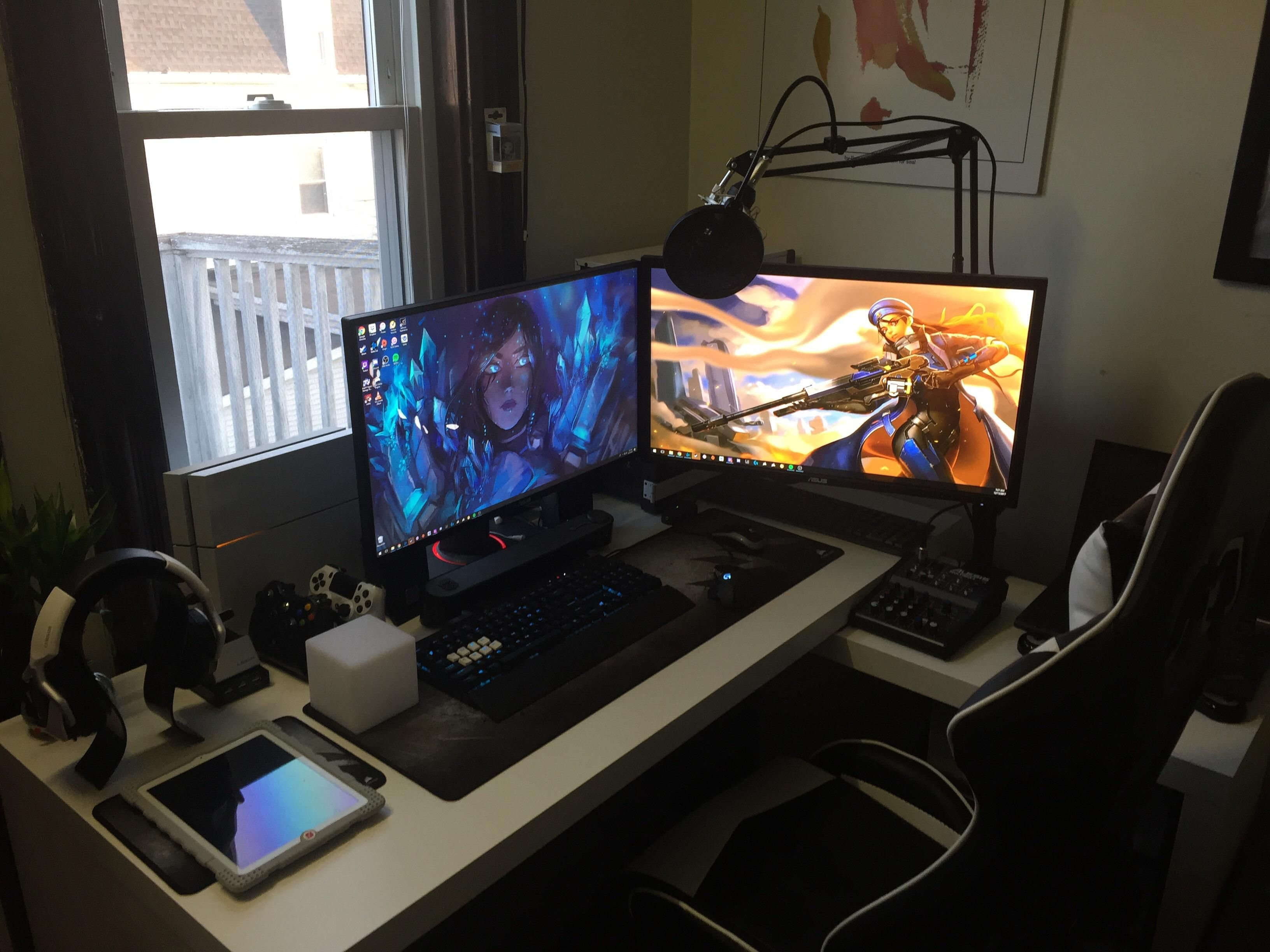 PC Master Race and Battlestation: Do you accept me? (PC behind ... | pcmasterrace ikea desk