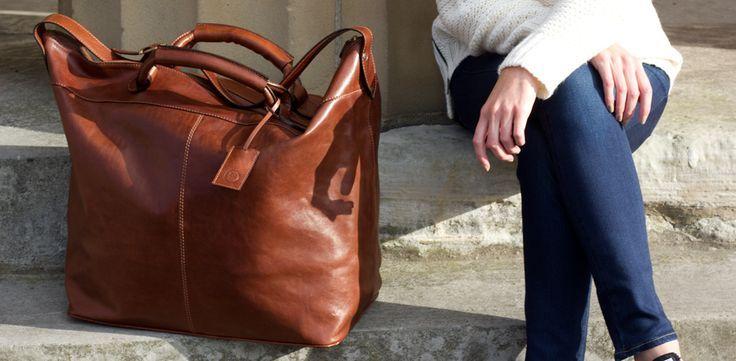 Fabrizio | Leichte Damen Leder Reisetasche