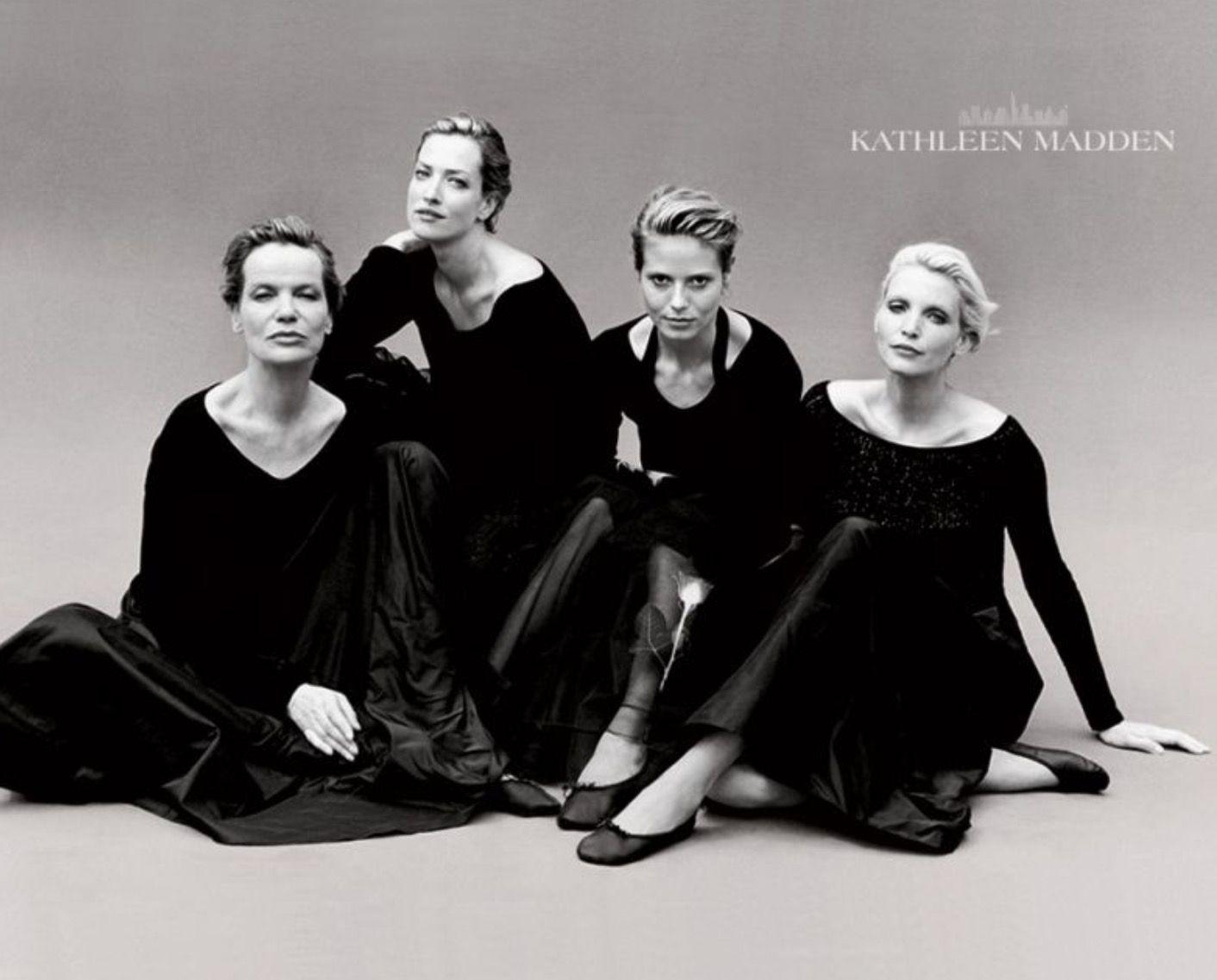 Veruschka, Tatjana, Heidi and Nadja by Peter Lindbergh - Kathleen Madden