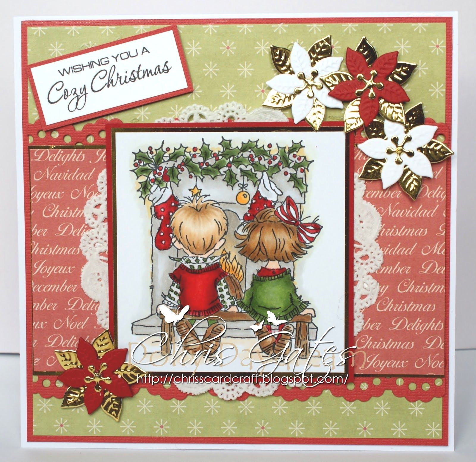 Stamped Christmas Cards Chriss Cards