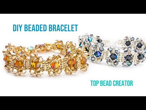 Photo of How to make easy pattern crystal bracelet, Jewelry making tutorial.