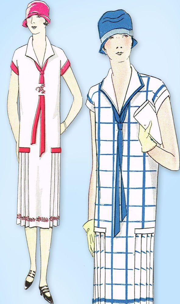1920s Vintage Ladies Home Journal Sewing Pattern 5014 Uncut Flapper ...
