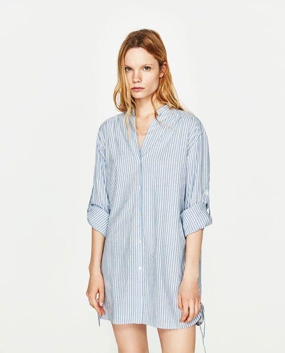 97e983bcbd Image 2 of STRIPED SHIRT DRESS from Zara
