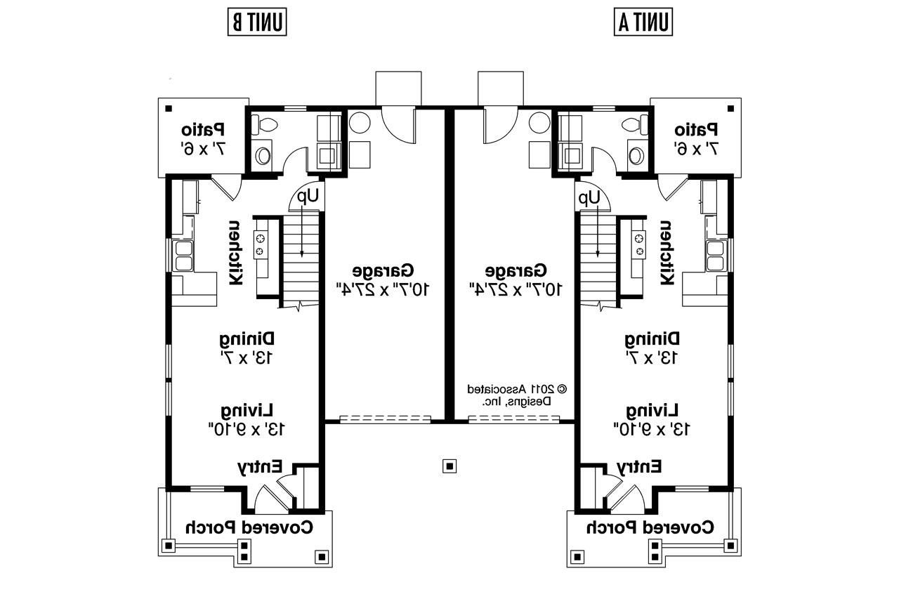 One storey duplex house plans