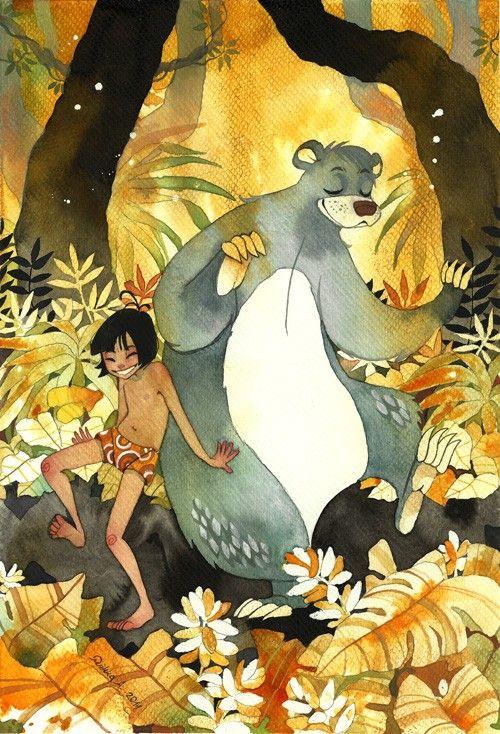 Riikka Auvinen S Watercolors Make For Wonderful Princesses Mutants Demons And More Art Disney Fan Art Jungle Book Disney Disney Art