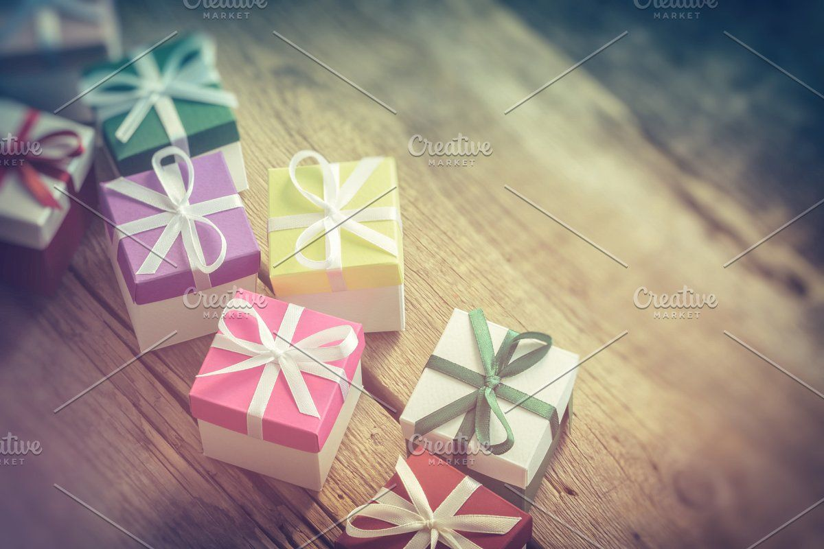 Photo of Several colorful gift boxes. #Sponsored , #Sponsored, #boxes#gift#colorful#backg…