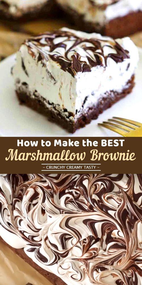 How to Make the BEST Marshmallow Brownie (+video) #brownierecipe #chocolatedessert #MarshmallowBrownie #marshmallow