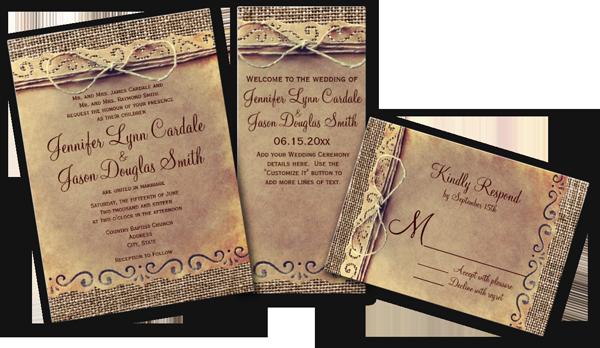 25 Country Wedding Invitation Ideas