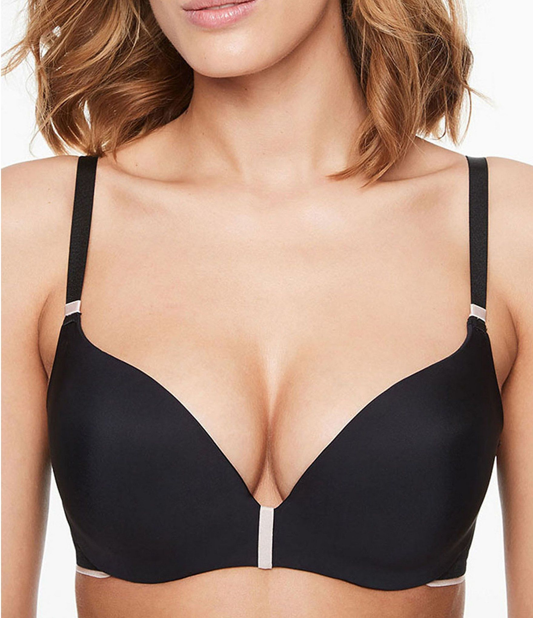 Chantelle Absolute Invisible Smooth Push Up Bra Black 32dd In