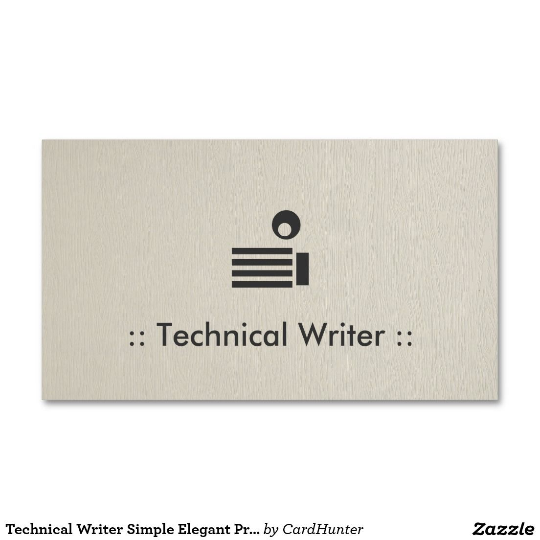 Technical Writer Simple Elegant Professional Double-Sided Standard ...