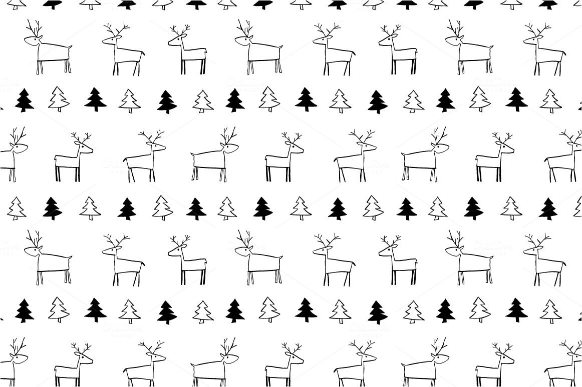 Winter patterns - ink doodle by Wild Rose on @creativemarket