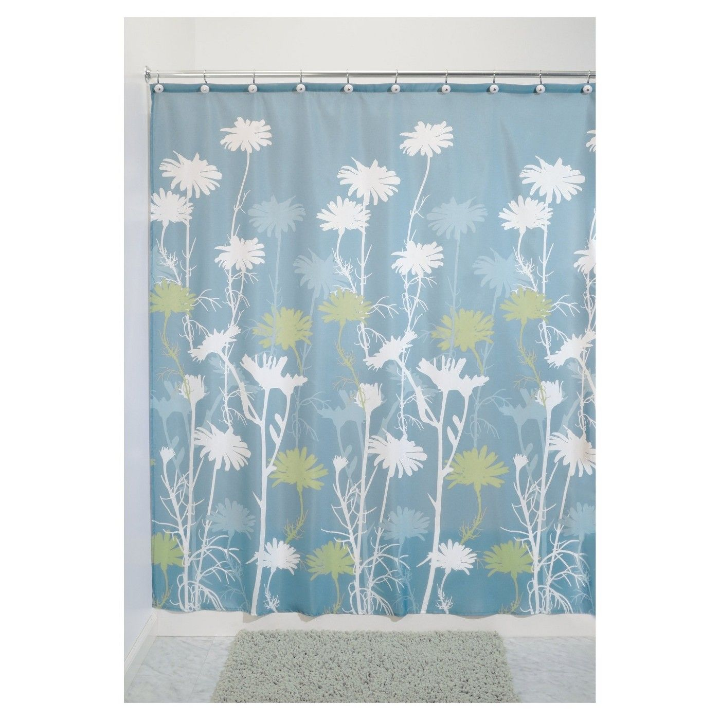 Daisy Shower Curtains Gray Yellow Interdesign Image 1 Of 1
