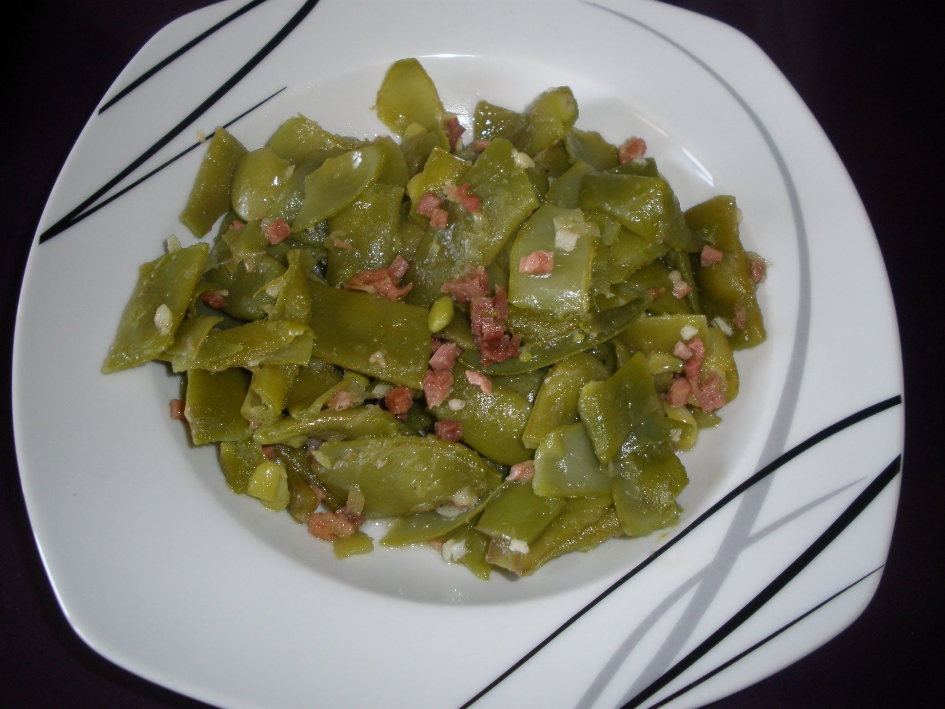 Judias Verdes Con Jamon Serrano Receta Green Beans With Ham  ~ Solomillo Wellington Masterchef Receta