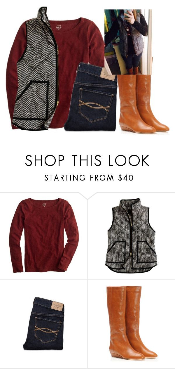 """Sort of OOTD for Carolina Game last Saturday!"" by sc-prep-girl ❤ liked on Polyvore featuring J.Crew, Abercrombie & Fitch and Loeffler Randall"