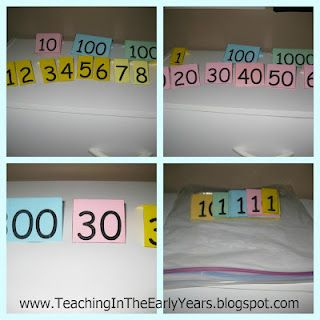 Teaching Blog Addict: Place Value Tent Cards