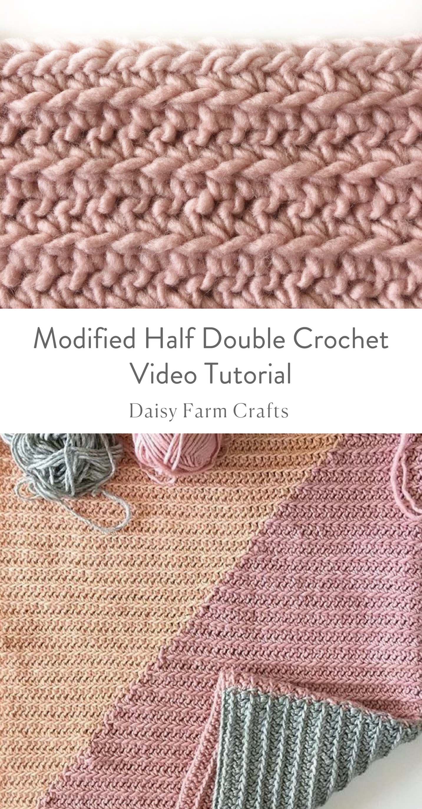 Modified Half Double Crochet Stitch Video Tutorial Granny Square