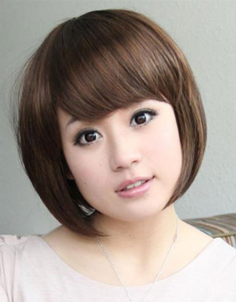 Jenis Potongan Model Rambut Untuk Wajah Bulat Rambut Pendek Gaya Rambut Bob Pendek Rambut Pendek Asian