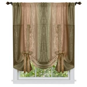 Achim Sage Ombre Tie Up Shade Curtain 50 In W X 63 In L