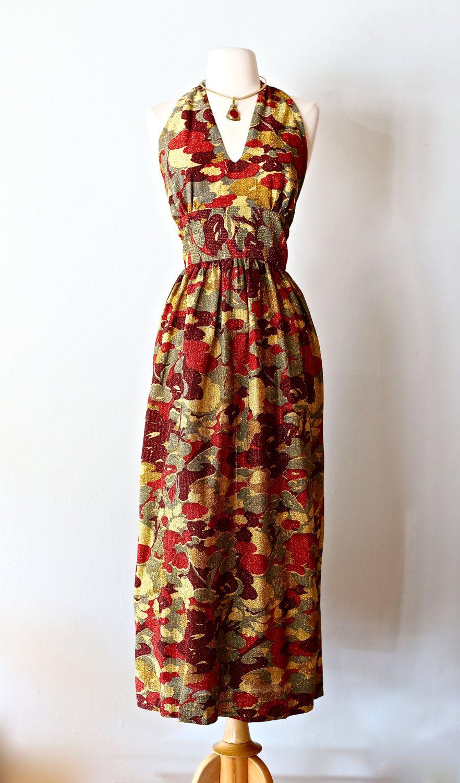 sexy vintage 70s halter dress vintage 1970s halter neck