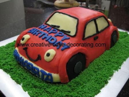 Kids birthday cakes2 BabyBoy Pinterest Car cakes Cake and