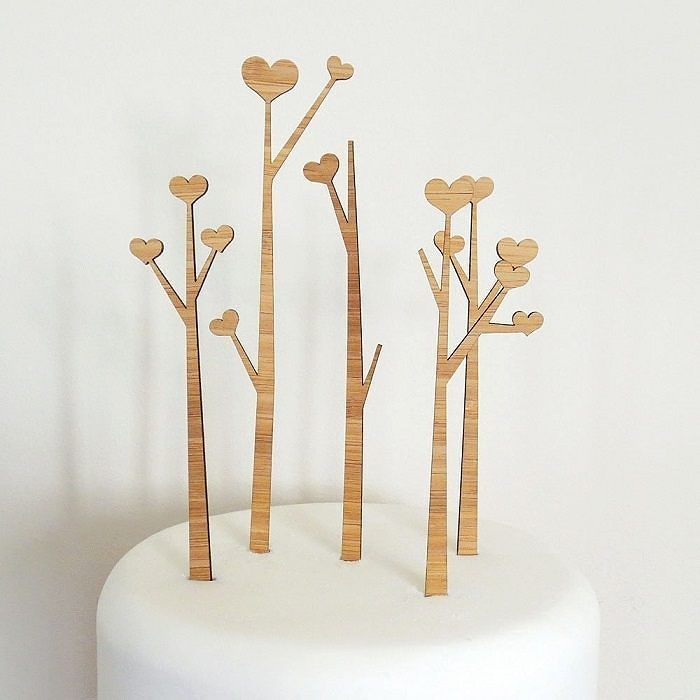 These bamboo simple heart tree cake toppers are simple  and awesome! Check out today's blog post for 9 more unique cake toppers from Etsy.  #intimateweddings #smallwedding #intimatewedding #smallwedding #smallisbeautiful #thatsdarling #petitejoys #livethelittlethings #liveauthentic #nothingisordinary #finditliveit #canadianblogger #weddingcake #caketopper #bamboo #heart #weddingcaketopper #etsy #etsywedding #simplewedding by intimateweddings