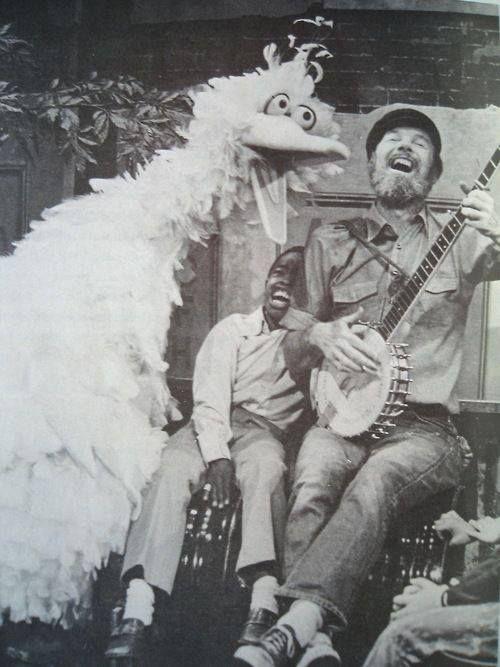 Pete Seger & first Big Bird