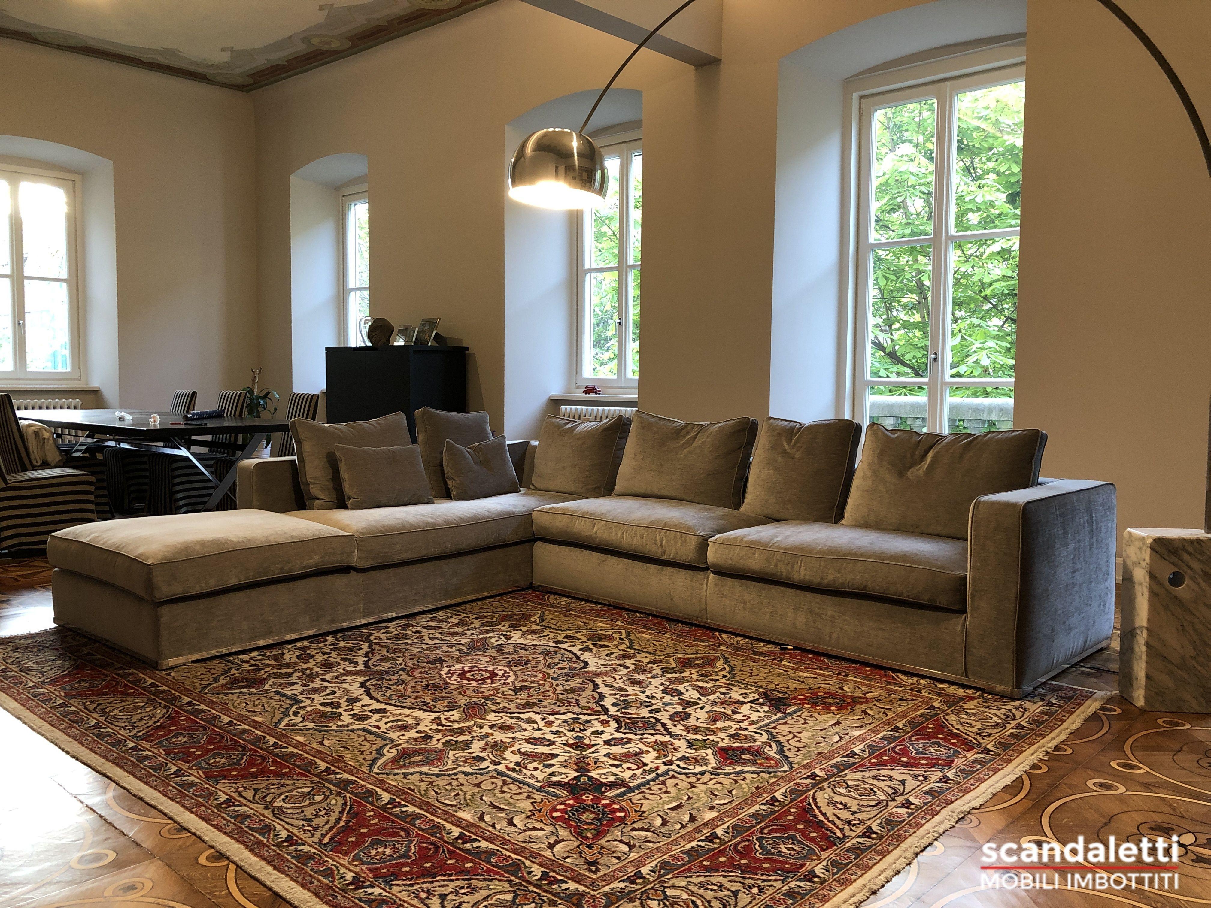 Restauro e nuovo rivestimento divano Maxalto Omnia disegnato ...