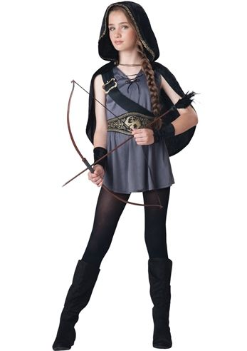 Hooded Huntress Girls Costume- The Costume Landu003cu003c replace the shoes with combat boots and we have a costume!!  sc 1 st  Pinterest & Hooded Huntress Girls Costume- The Costume Landu003cu003c replace the shoes ...