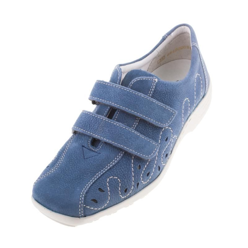 Remonte D0506 03 Berta Ladies Womens Blue Double Velcro Strap Shoe - £69.99 - Top quality Remonte Dorndorf footwear from Barnets Shoes