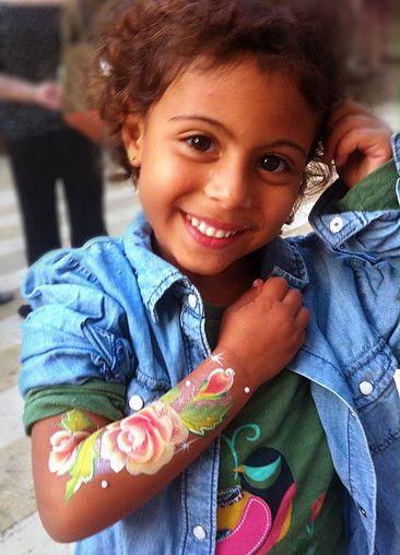Arm Painting Roses Leyla Shemesh Facepainting And Henna