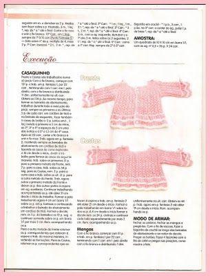 """""""Criações e Ideias Siglea e Amigas"""": Receita - Casaquinho em tricô para bebê."""
