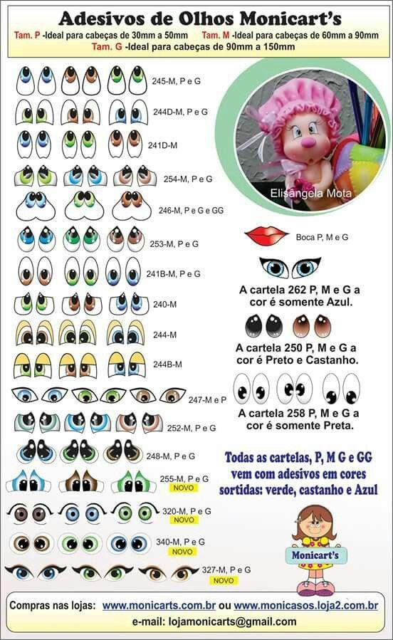 Artesanato Em Tiradentes Mg ~ Adesivos de olhos Trabalhos e Bonecas em eva Pinterest Adesivo, Olho e Brinquedos infantis