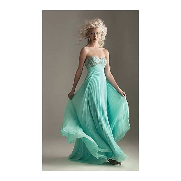 My Style / Strapless Pleated Prom Dress, Night Moves Evening Gowns-... via Polyvore