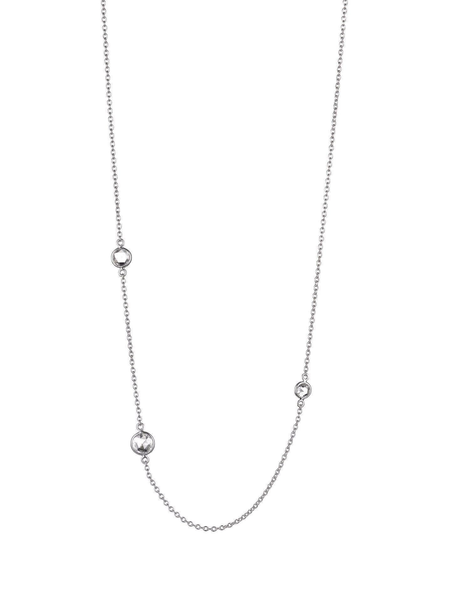 Three Stone Rose Cut Necklace - Finn