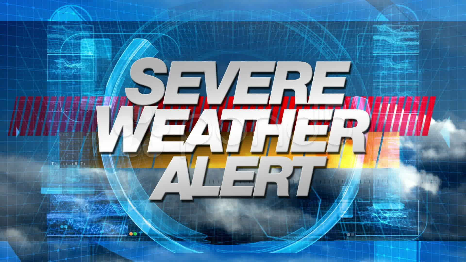Severe Weather Alert - Broadcast Graphics Title Animation