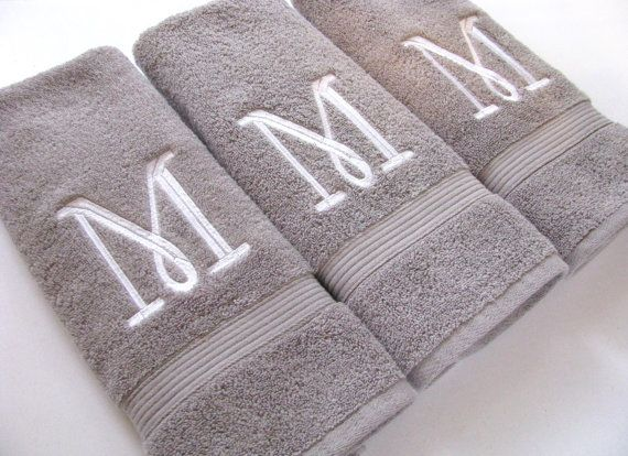 Monogrammed Bath And Hand Towels 6 Sizes 20 Colors Towels With