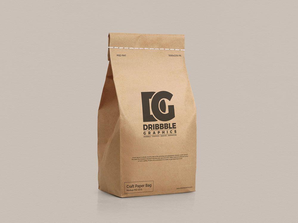 Download Free Craft Paper Bag Mockup Mockuptree Bag Mockup Paper Bag Design Paper Crafts
